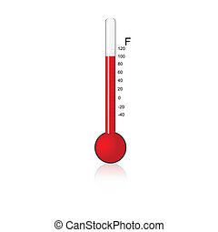 vector thermometer - illustration of vector thermometer on ...
