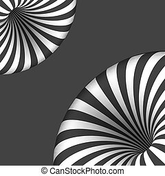 Vector Tunnel Illusion. Spiral Optical Illusion Effect