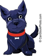 Scotch Terrier - Illustration of very cute Scotch Terrier