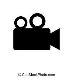 video camera icon silhoutte. JPEG Raster Image . -...