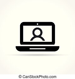 video chat icon on white background