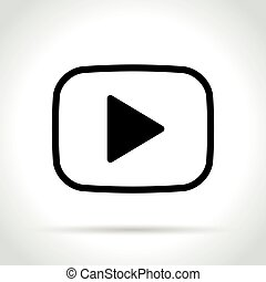 video player icon on white background