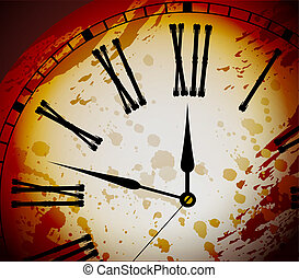 Vintage Distressed Clock Surface Macro