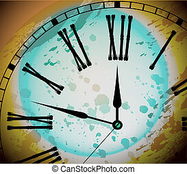Illustration of Vintage Distressed Clock
