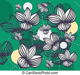 Illustration of vintage floral pattern