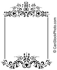 illustration of vintage frame with copyspace in black and...