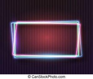 Vintage Neon Frame