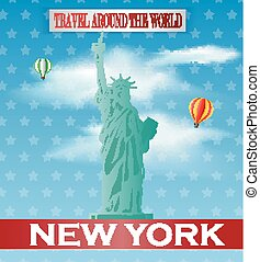 Vintage New York Travel vacation po