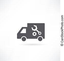 illustration of vintage  truck in a  grunge style. Vector illustration.