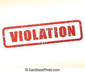 violation text buffered