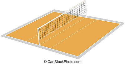volley ball ground - illustration of volley ball ground on a...