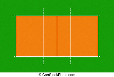 illustration of volleyball court - Volleyball court