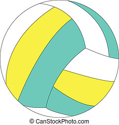 illustration of volleyball