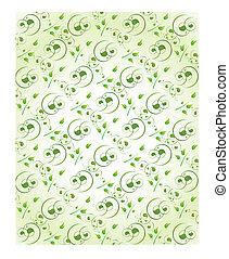 wallpaper background with swirls in green