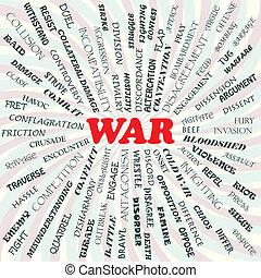 illustration of war concept.