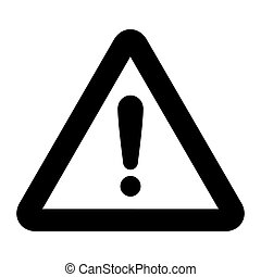 warning sign black icon