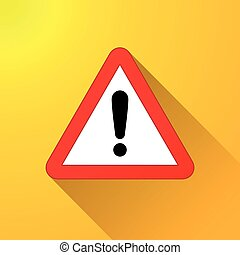 warning sign on yellow background