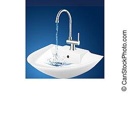 illustration of wash basin