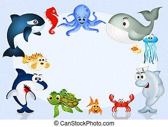 water animals in the ocean