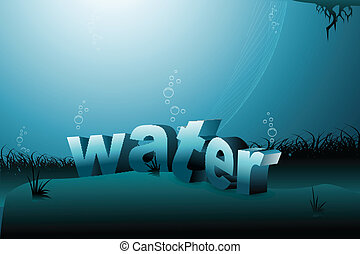 water background - illustration of water background