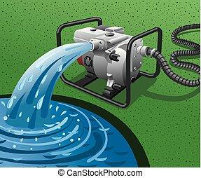 water pump power generator