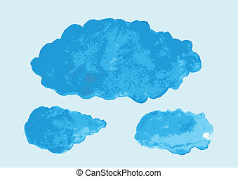 illustration of watercolor cloud symbol