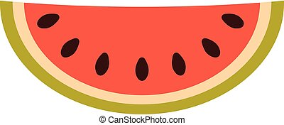 Illustration of watermelon in flat style.