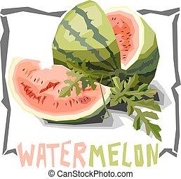 Illustration of watermelon.