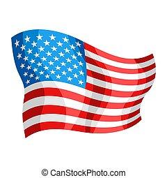 Illustration of waving American Flag.