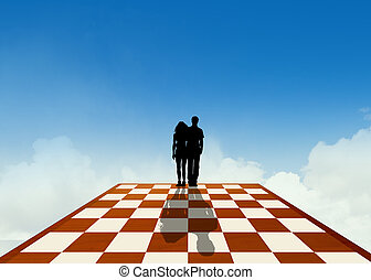 we are pawns on the chessboard - illustration of we are ...