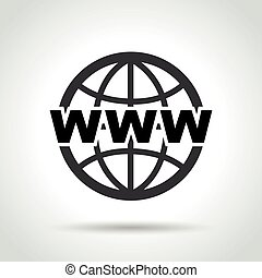web icon on white background