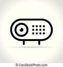 webcam icon on white background