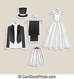 Wedding Icons - Illustration of Wedding Icons and Concepts...
