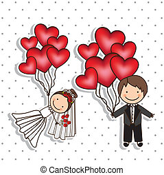 Wedding Icons - Illustration of Wedding Icons and Concepts ...
