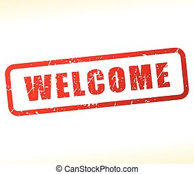 welcome stamp on white background