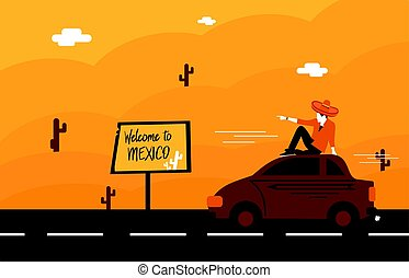 illustration of welcome to Mexico