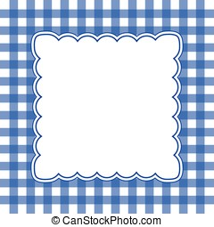 white and blue gingham background