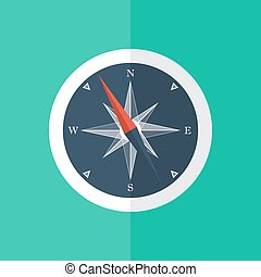White compass circle icon