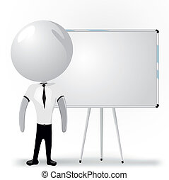 white men with blank board