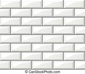 white tiles background - Illustration of white tiles...
