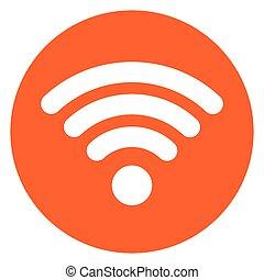 wifi circle orange icon