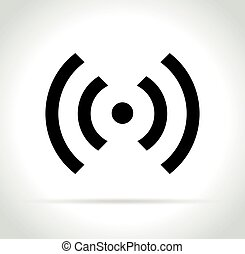 wifi icon on white background
