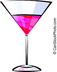 Illustration of wine glass in a white background