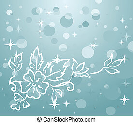 winter background with floral branch