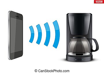 Wireless Controlling coffee maker with smartphone