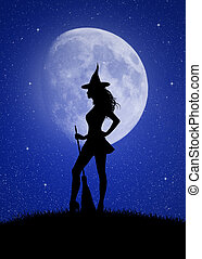 witch in the moonlight