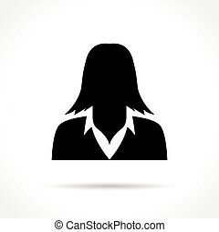 woman icon on white background
