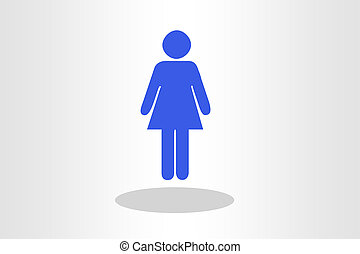 Illustration of woman shape against plain background