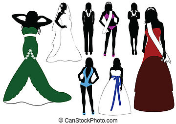 Illustration Of Women Silhouette
