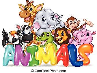 Illustration of Word animal